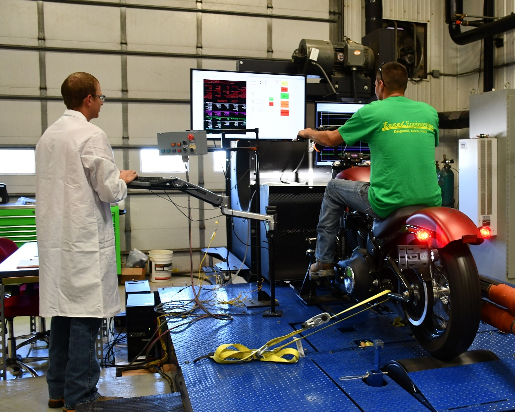 Motorcycle emissions test